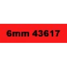 6mm Black on Red 43617