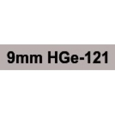 HGe-121 9mm Black on clear