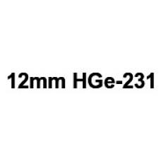 HGe-231 12mm Black on white