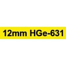 HGe-631 12mm black on yellow