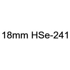 HSe-241 Compatible 18mm Black on White Heatshrink