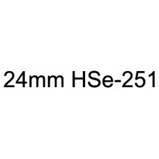 HSe-251 Compatible 24mm Black on White Heatshrink