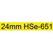 HSe-651 Compatible 24mm Black on Yellow Heatshrink
