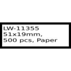 LW-11355 51mm x 19mm labels