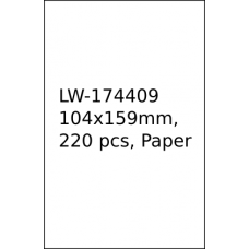 LW-1744907 104mm x 159mm labels