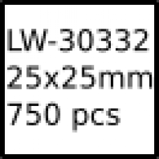 LW-30332 25mm x 25mm labels