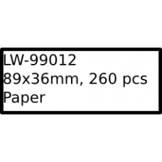 LW-99012 89mm x 36mm labels
