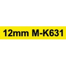 MK-631 12mm Black on yellow