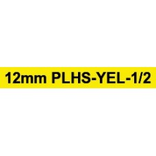 PLHS-YEL-1/2 compatible 12mm black on yellow heatshrink tube1.5m