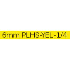 PLHS-YEL-1/4 compatible 6mm black on yellow heatshrink tube 1.5m