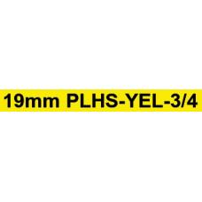 PLHS-YEL-3/4 compatible 19mm black on yellow heatshrink tube1.5m