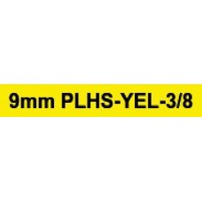 PLHS-YEL-3/8 compatible 9mm black on yellow heatshrink tube 1.5m