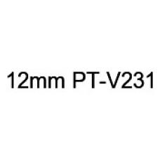 PT-V231 12mm Black on white vinyl