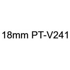 PT-V241 18mm Black on white vinyl