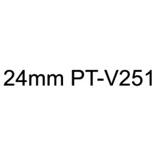PT-V251 24mm Black on white vinyl