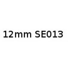 12mm Black on White Tamper Evident SE013