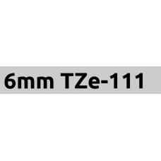 TZe-111 6mm Black on clear