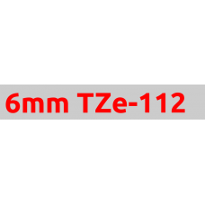 TZe-112 6mm Red on clear