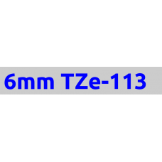 TZe-113 6mm Blue on clear