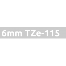TZe-115 6mm White on clear