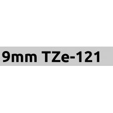 TZe-121 9mm Black on clear