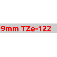 TZe-122 9mm Red on clear