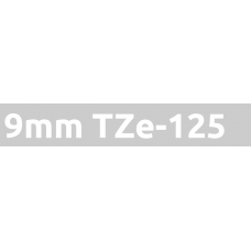 TZe-125 9mm White on clear