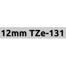 TZe-131 12mm Black on clear