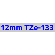 TZe-133 12mm Blue on clear