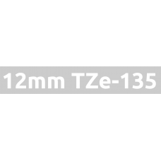 TZe-135 12mm White on clear