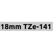 TZe-141 18mm Black on clear