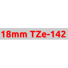 TZe-142 18mm Red on clear