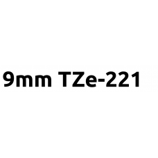 TZe-221 9mm Black on white