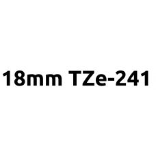 TZe-241 18mm Black on white