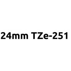 TZe-251 24mm Black on white