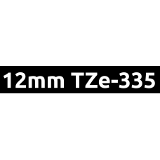TZe-335 12mm White on black