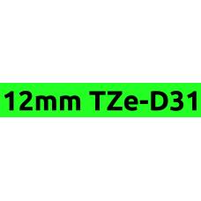TZe-D31 12mm Black on flouro green