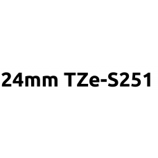 TZe-S251 24mm Black on white strong adhesive