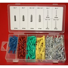 285pc screw and anchor assortment