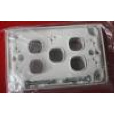 White Clipsal 5 port plate