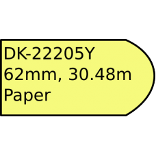 DK-22205Y 62mm continuous label yellow paper