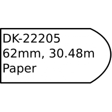 DK-22205 62mm continuous label roll only