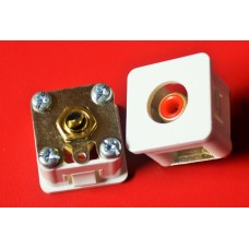 PDL RCA socket, pair, red and black